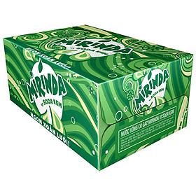 Thùng 24 Lon Nước Ngọt Có Gaz Mirinda Soda Kem (320ml/lon)