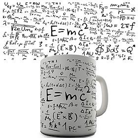 Creative Mathematical Formulas Ceramic Mug Pretty Coffee Milk Tea Cup Gift Decoration (Cannot Change Colour)
