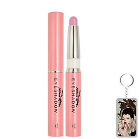 Bút sáp kẻ mắt nhiều màu nhũ bạc Mira Eyeshadow Hàn Quốc 1.5g No.2 Màu hồng tặng kèm móc khoá