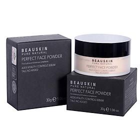 Phấn phủ bột Beauskin Perfect Face Powder Hàn Quốc 30g #21 Natural Beige tặng kèm móc khoá-4