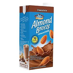 Sữa Hạt Hạnh Nhân ALMOND BREEZE CHOCOLATE 946ml - Sản phẩm của TẬP ĐOÀN BLUE DIAMOND MỸ - Đứng đầu về sản lượng tiêu thụ tại Mỹ