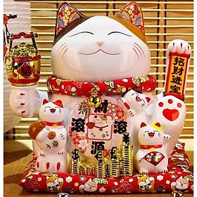 6 Mẫu Mèo Thần Tài Vẫy Tay Nhật Bản 25CM~27CM Siêu HOT + Tặng Kèm Pin & Hộp Quà Sang Trọng