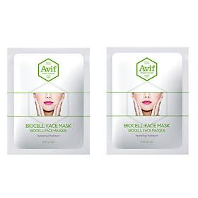 Combo 2 mặt nạ Avif biocell dưỡng ẩm da chuyên sâu - Avif biocell hydrating face mask