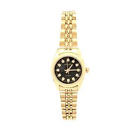 Đồng hồ Nữ Halei - HL356 Dây vàng (Tặng pin Nhật sẵn trong đồng hồ + Móc Khóa gỗ Đồng hồ 888 y hình + Hộp Chính Hãng)