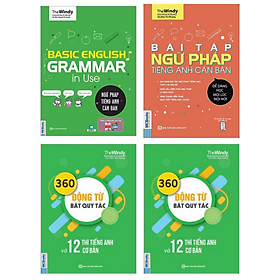 Combo Sách Ngữ Pháp Tiếng Anh Căn Bản (Bìa Xanh), Bài Tập Ngữ Pháp Tiếng Anh Căn Bản, 360 động từ bất quy tắc và 12 thì cơ bản trong tiếng Anh