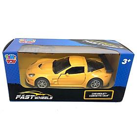 Đồ Chơi Xe Tốc Độ Fastwheels 5 Inch (554000) - Chevrolet Corvette C6.R - Màu Vàng