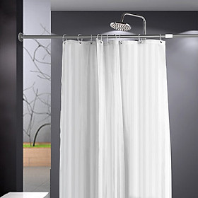 Mercury guest color stripes polyester shower curtain white 100 * 180CM