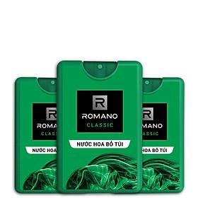 Hình ảnh Combo 3 Nước hoa bỏ túi Romano Classic cổ điển lịch lãm 18mlRom