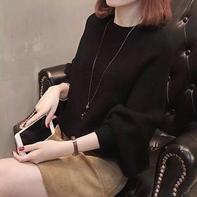 Áo len tay kiểu  màu trơn phong cách cho bạn nữ ấm áp