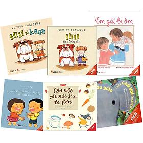 Combo Ehon 6 cuốn 0-3 tuổi: Cần một nồi súp to hơn + Chuyện những chiếc răng + Trường mẫu giáo của chú voi Grumpa + Bull và Kana + Bull chơi trốn tìm + Em gái bị ốm