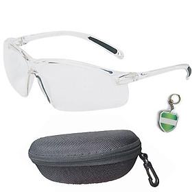 Bộ Kính trắng trong nam nữ Honeywell A700 cao cấp chính hãng chống nước , chống bụi , chống UV , ôm sát mắt (có hộp kính ) và tặng móc treo khóa