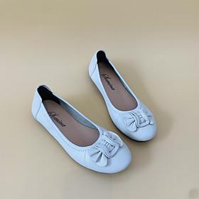 [ Shop giày somina ] Buppe da thật đế cao su MT15