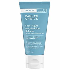 Kem Dưỡng Ngày Dưỡng Nhăn Siêu Nhẹ SPF 30 Paula's Choice Resist Super – Light Daily Wrinkle Defence SPF 30 (60ml)