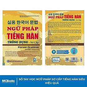 Sách - Ngữ pháp tiếng Hàn thông dụng (sơ cấp) – Korean Grammar in use - MCBooks