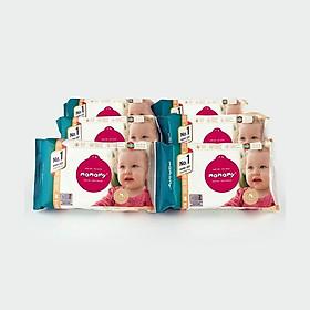 Combo 6 gói khăn ướt ngừa hăm, rôm sảy Mamamy 80 tờ/gói bổ sung (không nắp), kháng khuẩn, an toàn cho trẻ sơ sinh