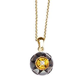 Dây Chuyền Galatea Jewelry Hoa Sen Đen DIP-102.03YT - Đen