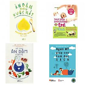 Combo 3 cuốn ăn dặm không nước mắt+sổ tay ăn dặm của mẹ+thực đơn ăn dặm(tặng kèm sách người mẹ giúp con ham đọc sách)