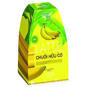 Trái Cây Sạch - Latte Chuối Hữu Cơ OneLife - Sinh Tố Chuối (Hộp 6 gói)