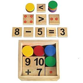 Bộ học toán bằng gỗ