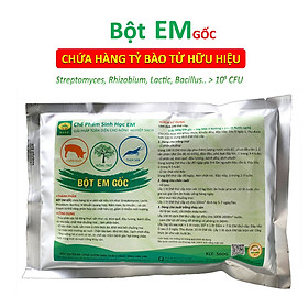 Chế phẩm EM gốc - Gói 500g - Chứa hàng tỷ vi sinh vật có lợi - Ủ rác bã hữu cơ làm phân bón - Xử lý mùi hôi