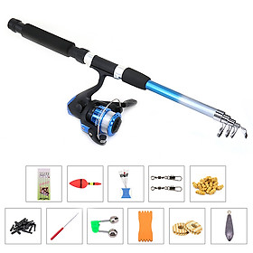 Fishing Reel Rod Combo Set Fishing Pole Spinning Reel Set with Fishing Accessories