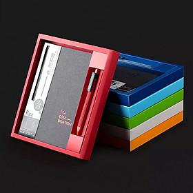 Xiaomi Youpin Fizz Office Business Hard Surface Notebook Set, dùng cho sổ tay văn phòng sinh viên, sổ tay gấp 360 °, bút gel viết trơn, bộ quà tặng doanh nhân
