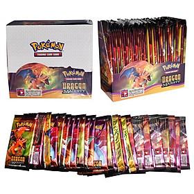 Bộ Thẻ Bài Pokemon 324 Thẻ Trading Card Game Dragon Majesty TCG Sưu Tập Đẹp Đọc Đáo