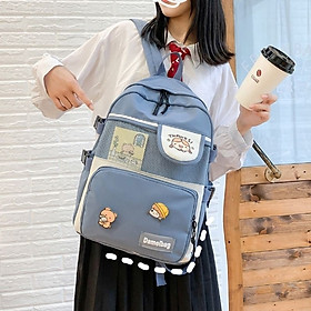 Balo Nữ Đi Học Laptop Chống Nước thời trang ulzzang cặp sách đi học Sinh viên học sinh