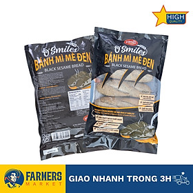 [Chỉ Giao HCM] - Bánh mì mè đen tươi đông lạnh O'Smile (350Gr) - Vỏ ngoài giòn rụm, ruột bánh mềm, thơm phưng phức