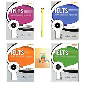 Combo IELTS Strategies For The IELTS Test: Writing, Reading, Listening, Speaking ( Kèm CD ) ( Tặng Kèm Viết + Sổ Tay )