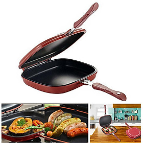 Double Side Grill Fry Pan Cookware Double Face Pan Steak Fry Pan Kitchen Accessories Cooking Tool 28CM/32CM