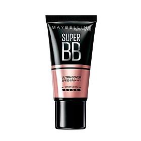Kem Nền Maybelline Super BB Ultra Cream Cover SPF50 PA++++ 30ml Trang Điểm Hoàn Hảo PM711-2