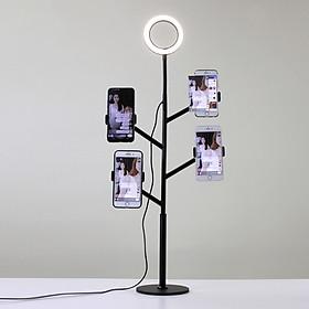 Đèn LED Livestream QUÁI VẬT 4 Kẹp Điện Thoại