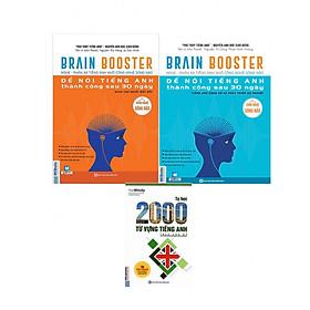 Combo 2 cuốn Brain Booster - Nghe Phản Xạ Tiếng Anh Bằng Công Nghệ Sóng Não ( Tặng 2000 Từ Tiếng Anh Theo Chủ Đề )