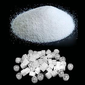 Combo Cát Thạch Anh (2kg) + Hạt Lọc KALDNES (500GR) vật liệu lọc, trang trí bể cá