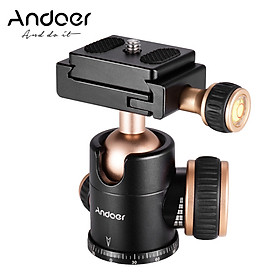 Andoer Q30 CNC Panorama Tripod Ball Head Aluminum Alloy Material Max. Load 5KG 360 Degree Rotation with 1/4 Inches Screw