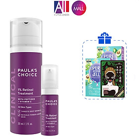 Tinh chất chống lão hóa 1% retinol Paula's Choice clinical 1% retinol treatment TẶNG mặt nạ Sexylook (Nhập khẩu)