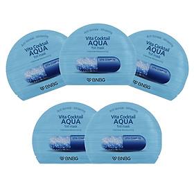 Combo 5 Mặt nạ cao cấp dưỡng da ẩm mượt, săn chắc Banobagi Vita Cocktail Aqua Foil Mask - Intensive Moisturizing 30ml x5