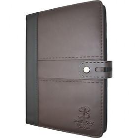 Sổ da khuy bấm 260 trang B5 Klong Bureau - TP345 màu nâu