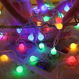 Đèn Led Trang Trí Bóng Tròn Cao Cấp Hai Chế Độ Nguồn Pin AAA Hoặc Cắm Điện Trực Tiếp (Độ dài 2M/4M/6M) - Hàng Chính Hãng VinBuy - Dây Bóng Đèn Trang Trí Noel Lễ Tết Bền, Đẹp, Sang Trọng
