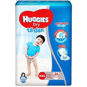 Tã Dán Huggies Dry Gói Đại XXL34 (34 Miếng)
