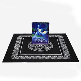 Combo Bộ Bài Bói Tarot Oracle of the Unicorns Cards Cao Cấp và Khăn Trải Bàn Tarot