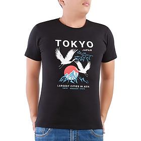 Hình đại diện sản phẩm Áo Thun Unisex R Rango Hoạ Tiết Tokyo Japan Cao Cấp Cực Đẹp ATIDBP058 - Đen