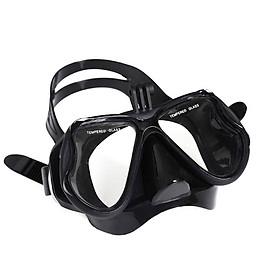 Mặt Nạ Lặn Kính Cường Lực YESURE chất liệu Polycarbonate  chống hơi nước, viền và deaay đeo silicon tạo cảm giác thoải mái khi đeo , chống tia UV có chân gắn Gopro