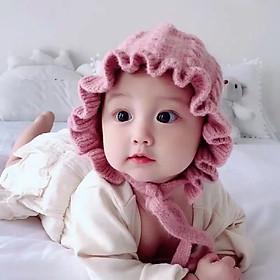 Mũ Len Tai Bèo Cô Gái Hà Lan - Giao Ngẫu Nhiên ( Len Tốt Loại 1 )