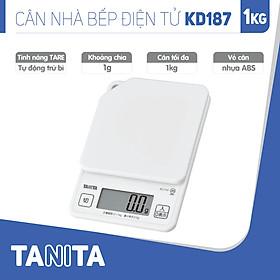 Cân điện tử nhà bếp TANITA KD187 (1kg) (Chính hãng Nhật Bản), Cân nhà bếp 1kg, Cân nhà bếp 2kg, Cân nhà bếp 5kg, Cân Nhật, Cân trọng lượng, Cân chính hãng, Cân thực phẩm, Cân thức ăn, Cân tiểu ly điện tử, Cân chính xác, Cân làm bánh