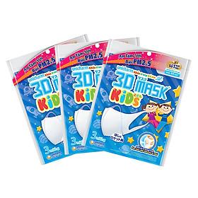 Bộ 10 Gói Khẩu Trang Trẻ Em Unicharm 3D Mask Kids (3 Cái / Gói)