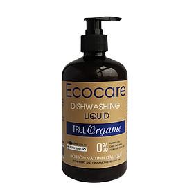 Nước rửa chén hữu cơ Bồ hòn và tinh dầu Quế 500ml ECOCARE - Hàng chính hãng (Tặng kèm mũ trùm đầu khi tắm cao cấp)