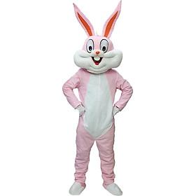 Mascot hoạt náo Thỏ hồng đáng yêu