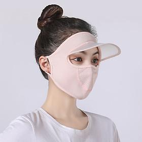 Khẩu trang ninja có chìa chống nắng vải thun thoáng mát che kín mặt thích hợp cả nam và nữ